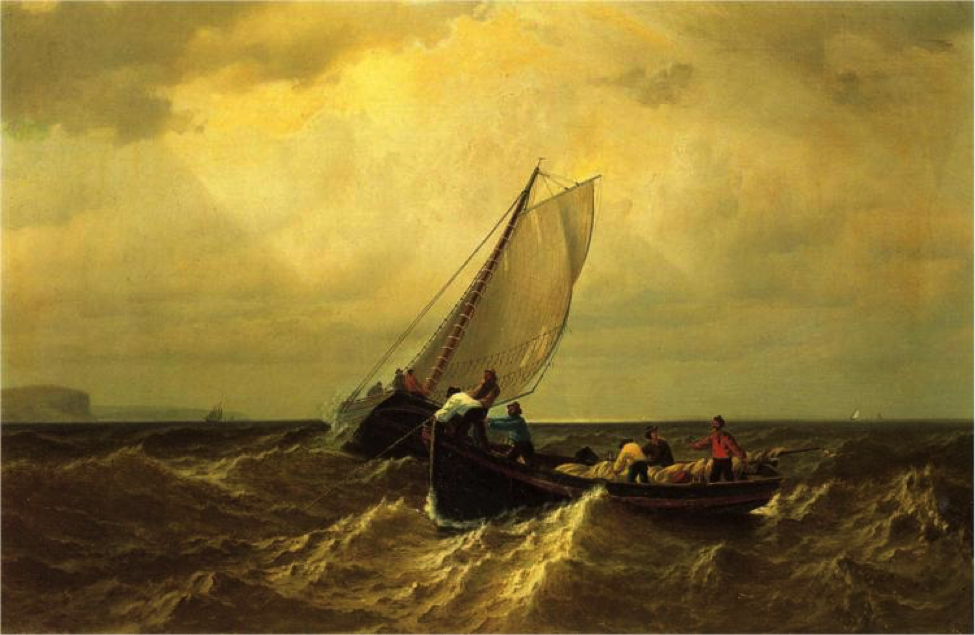 Уильям Брэдфорд «Fishing Boats on the Bay of Fundy» Частное собрание 1860